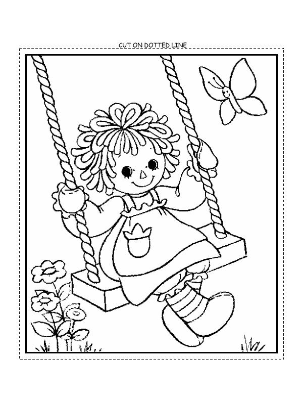 Raggedy Ann & Andy Mini-Coloring Book – Raggedys By Diane